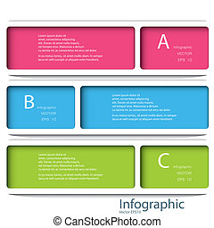 gabarit, eps, numéroté, utilisé, lignes, 10, infographics, conception, /, vecteur, site web, coupure, bannières, horizontal, graphique, moderne, être, disposition, format., ou, boîte