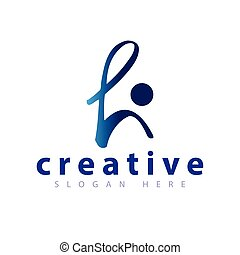 gabarit, gens, h, vecteur, lettre, logo, icône