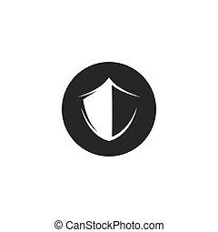 gabarit, illustration, bouclier, icône, symbole, vecteur