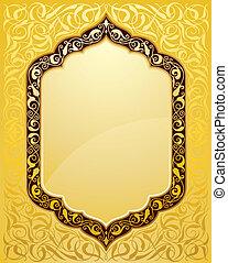 gabarit, islamique, conception, élégant