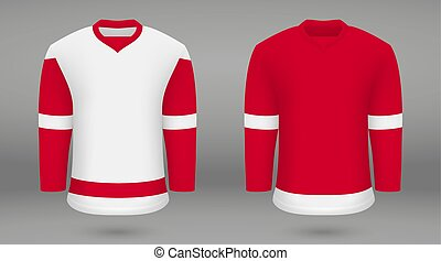 gabarit, jersey, forice, hockey, chemise