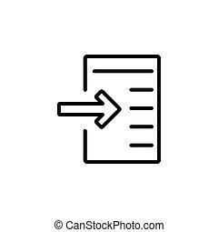 gabarit, ligne, toile, conception, parfait, logo, présentation, application, icône, style., importation