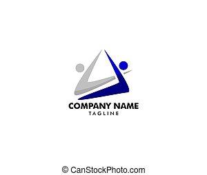 gabarit, logo, lettre, initiale, gens