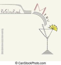 gabarit menu