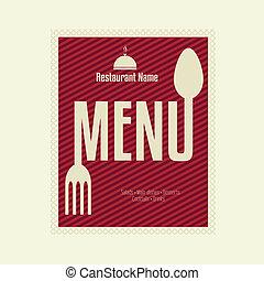 gabarit menu, restaurant