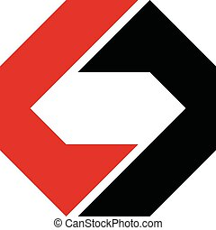 gabarit, o, forme, 10., illustration, design., diamant, logo, lettre c, eps, vecteur
