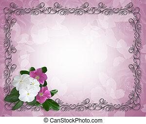 gabarit, pervenche, frontière florale