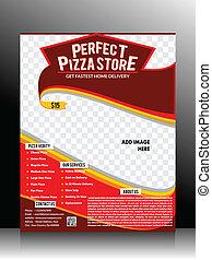 gabarit, pizza, parfait, aviateur, magasin
