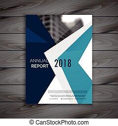 gabarit, rapport annuel, conception, a4, propre, brochure, taille