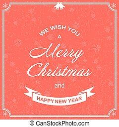 gabarit, salutation, arrière-plan., year., voeux, joyeux, nouveau, noël heureux, carte, vector.