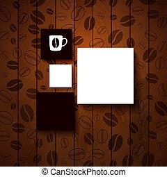 gabarit, ton, conception, café, shop.