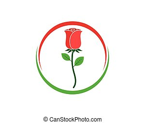 gabarit, vecteur, rose, logo