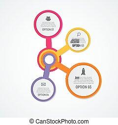 gabarits, éléments, infographic, business, options., résumé, illustration, créatif, diagramme, presentation., vecteur, graphique, étapes, 4