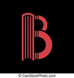 gabarits, b., forme, livre, lettre, logo