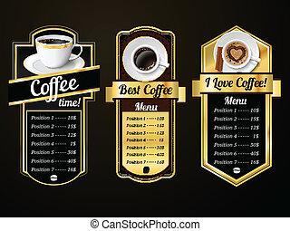 gabarits, café, conception