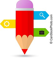 gabarits, crayon, infographics