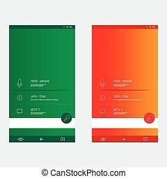 gabarits, ensemble, to-date, conception, interface utilisateur