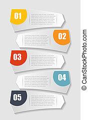 gabarits, eps10, illustration., business, infographic, vecteur