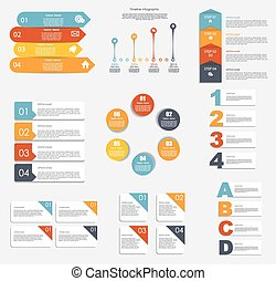 gabarits, illustra, business, collection, infographic, ...