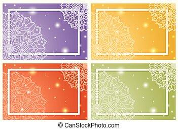 gabarits, mandala, fond, quatre, conception