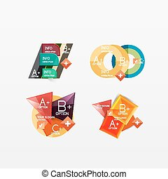 gabarits, moderne, collection, business, infographic