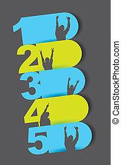 gabarits, numéroté, conception