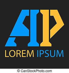 gabarits, p, lettre, logo
