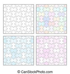 gabarits, puzzle, puzzle, seamless, vide