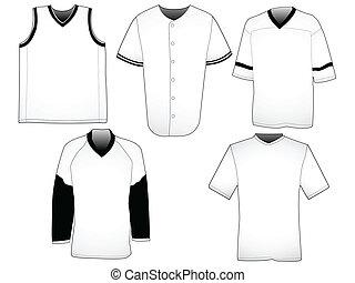gabarits, sport, jerseys