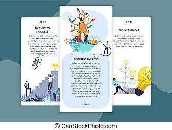 gabarits, toile, reussite, business, énergie, idées, manière, pages