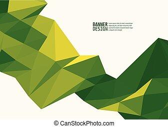 gabarits, triangle, couleur, brochures, vecteur, conception