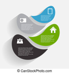 gabarits, vecteur, affaires illustration, infographic