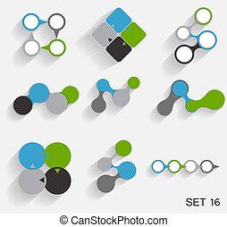 gabarits, vecteur, collection, business, infographic