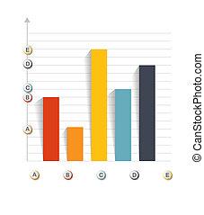 gabarits, vecteur, illustration., business, infographic
