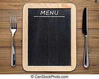 Schultafel clipart leer  Stockbilder von gabel, menükarte, leer, messer, tafel - gabel ...