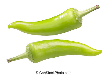 Hungarian Gabi peppers (a Hot Wax type), whole unripe pods
