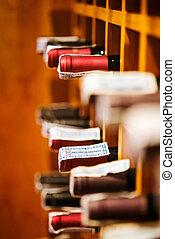 gabinete, adega, vinho, luxo, restaurante
