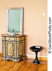 gabinete, espelho