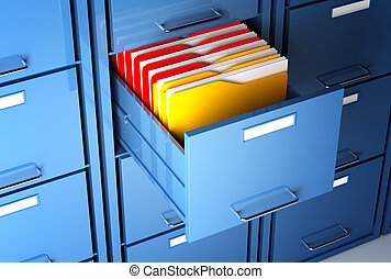 gabinete, pasta, arquivo
