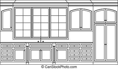 gabinetes, cocina