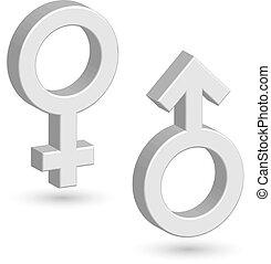 gabinetto, eps10, illustrazione, wall., simboli, vettore, femmina, uggia, maschio, marks., 3d