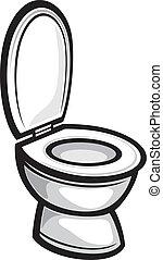 gabinetto, (toilet, bowl)