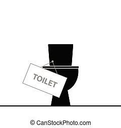 gabinetto, vettore, nero, illustrazione