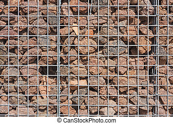 m tal gabion panier pais stones rempli pierres photo de stock rechercher. Black Bedroom Furniture Sets. Home Design Ideas