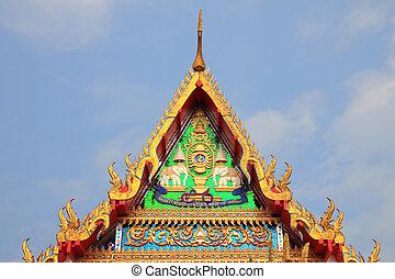 Gable of Buddha church for royal king.