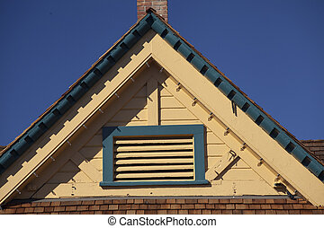 Gable Roof on Carlsbad Village Info Center - Gable roof on...
