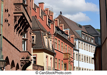 Gables - Various Facades of old inner-city buildings in...