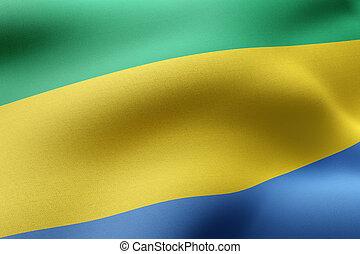 Gabon 3d flag