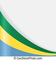 Gabon flag background. Vector illustration. - Gabon flag...
