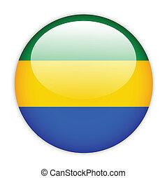 Gabon flag button